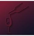 wine glass bottle paper cut background vector image vector image