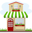 house and store vector image