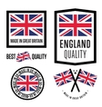 Made in Great Britain label set National flag vector image