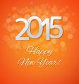 Orange New Year Card vector image