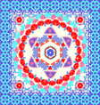 Ornate Bandana with geometric pattern vector image
