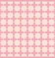 pink flower shape line seamless pattern design vector image