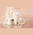 realistic delicate cosmetic ads banner template vector image