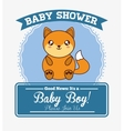 baby shower cartoon card design vector image
