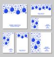 blue ball set vector image vector image