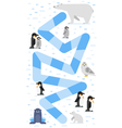 flat style of kids arctic animals board game vector image