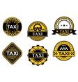 Taxi service symbols vector image vector image