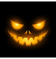 Halloween scary illuminated face in the dark vector image vector image