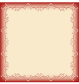frame pattern red vector image