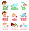 Virus infection prevention vector image