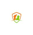 house thunder storm construction logo vector image