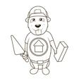 Beaver builder coloring book vector image