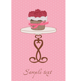 cupcake wedding invitation vector image vector image