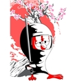 cartoon ninja chick vector image vector image
