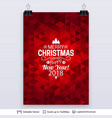 abstract background with christmas greeting text vector image