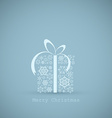 Christmas present box made from snowflakes vector image