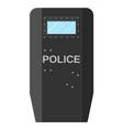 modern police assault shield vector image