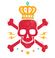 skull blood red paint vector image