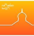 Template design concept card for ramadan kareem vector image