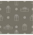 seamless pattern of simple linear gift boxes vector image