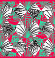 green and red palm leaves and harlequin rhombs vector image