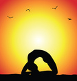 yoga pose silhouette vector image