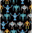 Robots seamless pattern Cosmic cyborgs seamless vector image