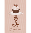 cupcake background vector image vector image