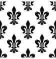 Black vintage fleur-de-lis seamless floral pattern vector image