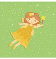 Cute Little Yellow Fairy vector image