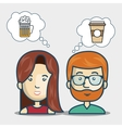 avatar persons and food design vector image