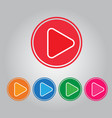 button video play and audio vector image