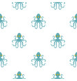octopus pattern flat vector image