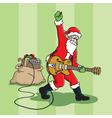 rockin santa vector image