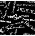 seamless multilingual greetings pattern vector image