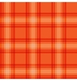 Seamless orange fabric tartan vector image