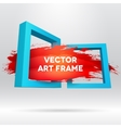 3D template with out of frame brush stroke vector image