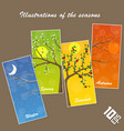 seasons in the tree cover vector image