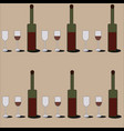red wine pattern vector image