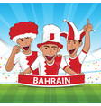 bahrain football support vector image