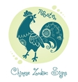 Rooster Chinese Zodiac Sign vector image