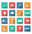 Australia icons set white vector image