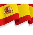 Background with waving Spanish Flag vector image