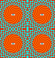 Hypnotic pattern vector image vector image