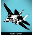 fighter vector image