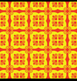 Seamless red and yellow pattern vector image vector image