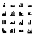 black factory icon set vector image vector image