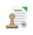approved document with stamp vector image