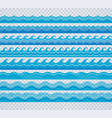 blue transparent wave patterns vector image