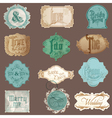 Calligraphic Wedding Elements in Vintage Frames vector image